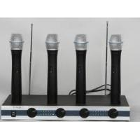 Buy cheap OEM 210~260MHz Noise-locking 4 Channels VHF Wireless Microphone with 9V battery product