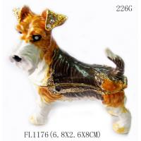 Buy cheap wholesales metal dog shaped cheap antique jewelry box for promotional gift product