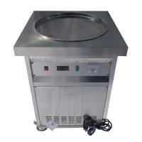 Buy cheap Single Round Pan Stir Thai Rolled Ice Cream Machine / Fried Ice Cream Maker product