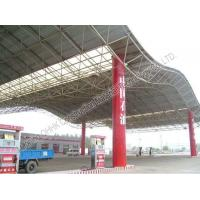 Buy cheap Gas Station Light Steel Roof Trusses with Steel Space Frame Canopy product