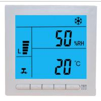 Buy cheap Large LCD Digital Fcu Thermostat / Temperature Humidity Thermostat Wired Controller product