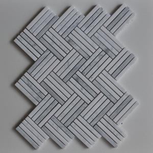 Cararra Grey Stone Mosaic Tile Micro Herringbone Marble Mosaic For Wall Decoration