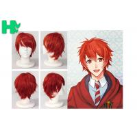Buy cheap Charming Wigs Synthetic Hair Short Wavy Red Synthetic Cosplay Wigs Costume Party Wigs Cap product