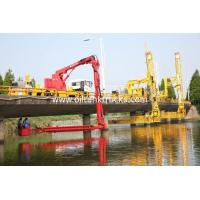 Buy cheap FAW 8*4 Euro 5  Bucket Type  Bridge Inspection Trucks  easy access to any position underbridge product