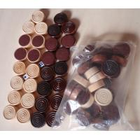 Quality wood Checker Round wood chess game pieces wood backgammon for sale