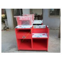 Buy cheap Custom Simple European Checkout Counter / Red Store Cash Desk product