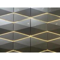 Buy cheap 3D Sharp RAL / PANTON Color Aluminum Panel Curtain Wall 4*0.5mm Thickness / Composite Building Materials product