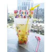 Buy cheap Resealable Stand Up Pouch Packaging For Drinks With Handle Holes On Top product
