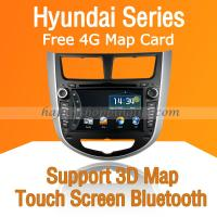 Buy cheap Autoradio DVD with GPS Navigation ISDB-T for Hyundai Verna product