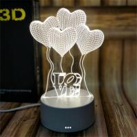 Buy cheap 3D LED Sweet heart  Table Light party light 3d acylic led night light for decoration product