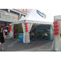 Buy cheap White PVC Textile Cover Weather Resistant High Peak Tents , Outdoor Gazebo Tent UV Resistance from Wholesalers