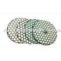 Buy cheap 100 mm Dry Diamond Polishing Pads 200 / 800 /1500 Buff With Durable Resin Compound product