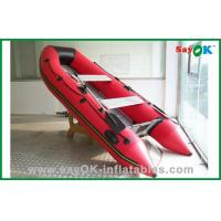 China Red PVC Inflatable Boat PVC Tarpaulin Inflatable Fishing Boat on sale