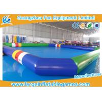 Buy cheap 0.9 MM Pvc Tarpaulin Blue / Green Inflatable Swimming Pools Portable Above Ground product