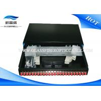 Buy cheap Industrial Fiber Termination Kits 24 ports 19 Inch Optical Fiber Patch Panel White product