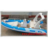 Buy cheap Durable 18 Foot Hard Bottom Inflatable Rib Boats 10 Person Inflatable Boat product