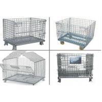 Buy cheap Collapsible Metal Pallet Cage , Steel Wire Pallet Storage Cage U Type Hand product