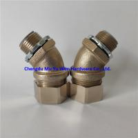 Buy cheap 25mm liquid tight 45 degree brasss connectors nickel plated with metric thread product