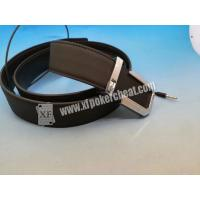Buy cheap Poker Cheating IR Camera Device Brown Leather Belt Camera to Scan Invisible Ink Marked Cards from wholesalers