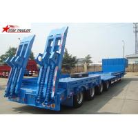Buy cheap 4 Axles Hidden Tires Pipe Transport Trailer Overheight Equipment Transporting product
