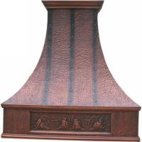 Hand crafted and hand made pure copper range hood