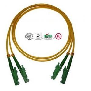 Buy cheap 0.9mm PVC E2000 Fiber Optic Patch Cables Single Mode Double Cores product