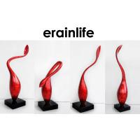 Quality Polyresin Sead Home Decorating Accessories 4pcs Red Bud Table Top Standing for sale