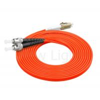 Buy cheap multi mode ST-LC connector optical fiber patch cord 3.0mm duplex PVC orange cable product