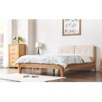 Buy cheap High Grade All Wood Bedroom Furniture , Modern Home White Oak Bedroom Furniture product