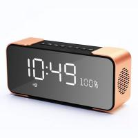 Buy cheap Alarm Clock display Portable Wireless Speaker with FM Radio Bluetooth speaker with goof quality product