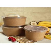 Buy cheap Customized Kraft Salad Fruit Food Paper Dessert Bowls With PLA Coating product