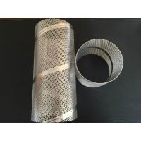 Buy cheap Zhi Yi Da  stainless steel spiral welded perforated water metal pipe filter frames air filter elements center core product