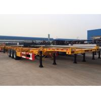 Buy cheap Tri Axle 40 Ft Gooseneck Skeleton Semi Trailer For Chemical Tanker Container product