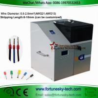 Buy cheap Automatic Wire Stripping Ferrule Crimping Mahcine Wire Stripper Ferrule Crimper Machine Crimping range: 0.5-2.5mm product
