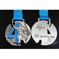 Buy cheap Singing Riding Marathon Custom Sports Medals Cut Out Design 3D effect With Sublimated Ribbon product