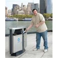 Buy cheap indoors / outdoors fashion design Wood  / stainless steel / plastic  recycle bins product