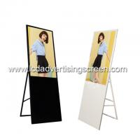 China Floor Standing Android LCD Advertising Screen 400cd Brightness 1920 * 1080 HD Resolution on sale