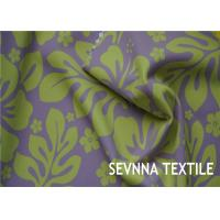 Floral Designs Recycled Lycra Fabric Customized Fabric Knit Warp Knitting