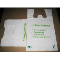 Buy cheap Degradable Biodegradable Shopping Bags Screen Printing for Suit product