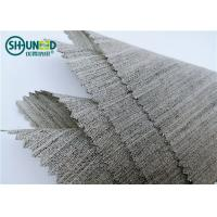 Buy cheap Soft Woven Wool Light Hair Bow Interlining Canvas Fabric For Garment Overcoat product