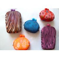 Buy cheap 2012 new products red silicone promotional gift coin pouch for girls 95*92*45mm product