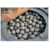 Buy cheap B2 Material Dia 60mm Forged Grinding Ball Mining , Ball Mill Steel Balls from Wholesalers