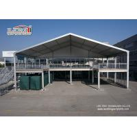 Buy cheap Two Story Tent Double Decker Tent with Glass Wall and ABS Soild Walls for Outdoor Events from Wholesalers