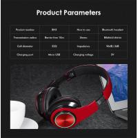 Buy cheap BH3 Glowing Headphones Bluetooth 4.1 Wireless Stereo Portable Foldable Headphone TF Card LED Light Wired Earphone Mic fo product