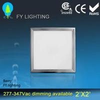 China 100 LM/W Square LED Ceiling Panel Light 600X600 With DLC cUL UL Approved on sale