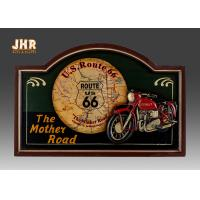 Buy cheap Home Decor Antique Wooden Wall Plaques Resin Motorcycle Wall Decor Pub Signs product