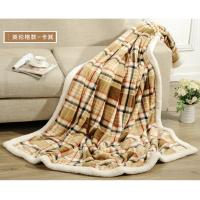Buy cheap Polyester Super Soft Plaid Flannel Blanket , Knitted Fall Plush Throw Blanket product