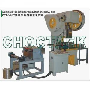 Buy cheap Aluminum foil food container machine CTAC-63T product