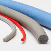 Buy cheap Low Hardness Silicone Foam Strip , Extruded Silicone Foam Sealing Strip product