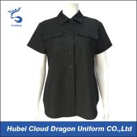 Buy cheap Lady Black Short Sleeve Work Shirts , Military Style Shirts For Women product